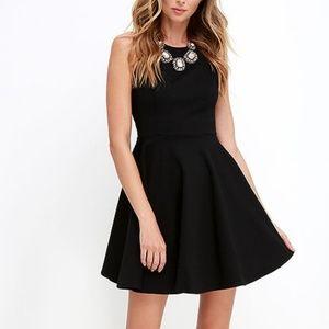 Lulu's Stylish Ways Black Skater Dress Size M